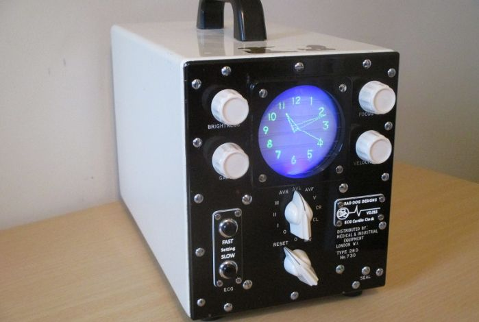 The ECG Clock front view