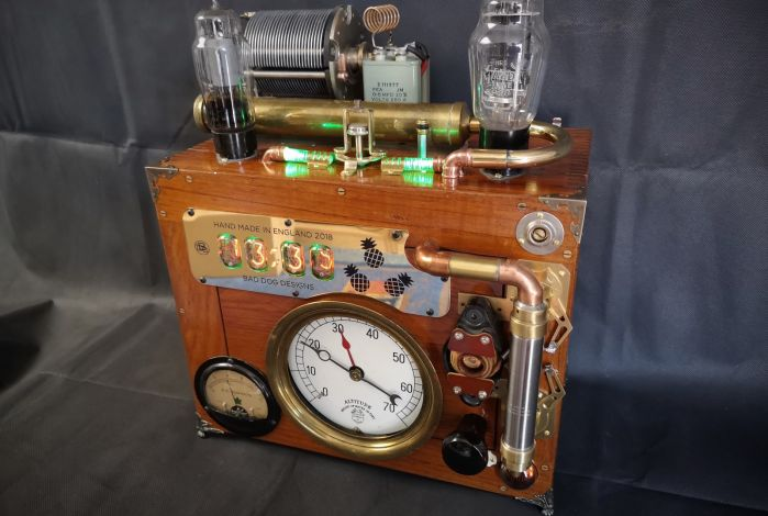 Original Vintage radio parts on the top