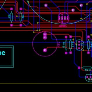 Cad layout of part of the Covert Bombe circuit board