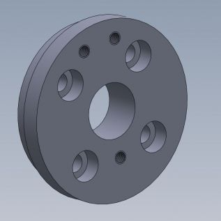 3D render of drive hub prior to manufacture