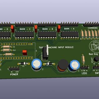 3D render of the state setting Circuit board