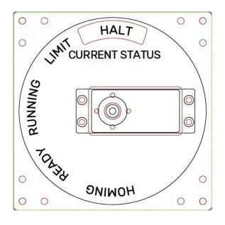 CAD drawing for the Status Indicator