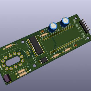 3D Render of the Cell circuit board prior to manufacture