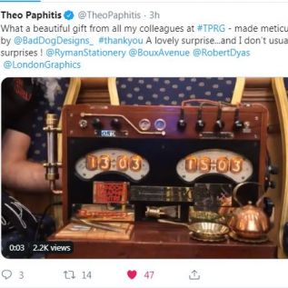 A tweet from Theo himself!