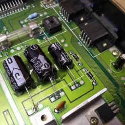 Old capacitors replaced