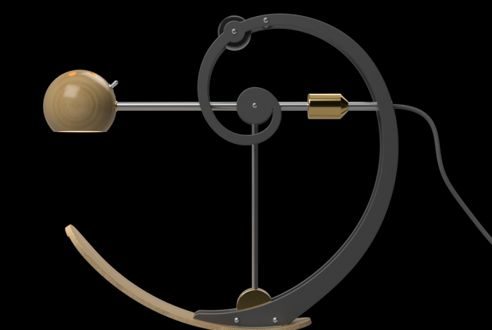 A-Type Balance lamp in resting position