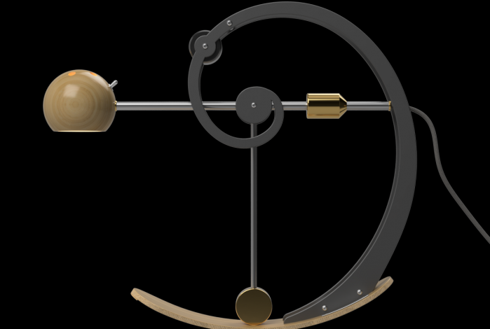 A-Type Balance lamp in centre position