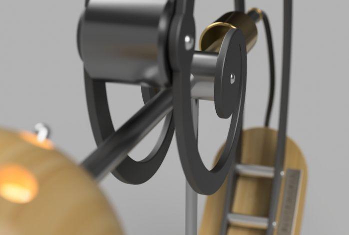 Balance lamp - close-up detail