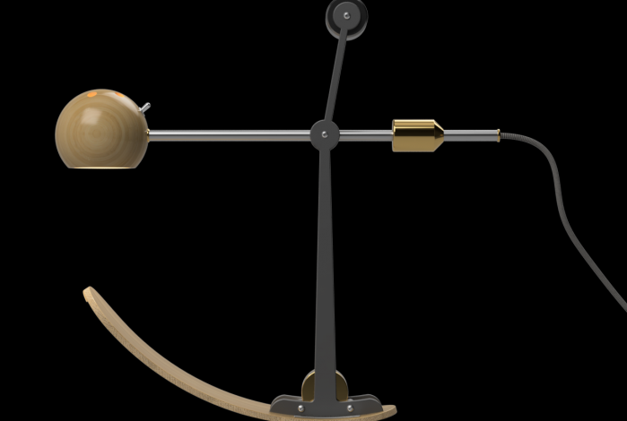 B-Type Balance lamp in resting position