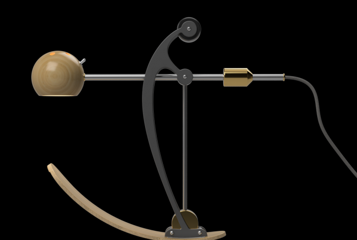 C-Type Balance lamp in resting position