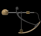 C-Type Balance lamp in extended position